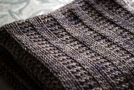 Easy Crochet Blanket | Knit/Crochet / Garter rib baby blanket (free pattern). Easy to enlarge ...