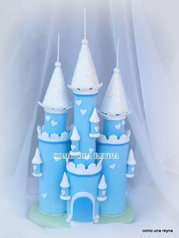 Adorno Torta Castillo Frozen ,princesas, - $ 320,00 en MercadoLibre