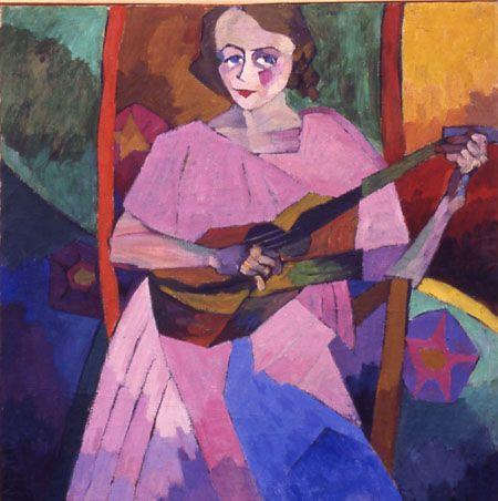 Woman with Guitar -Aristarkh Lentulov   (Knave Of Diamonds)