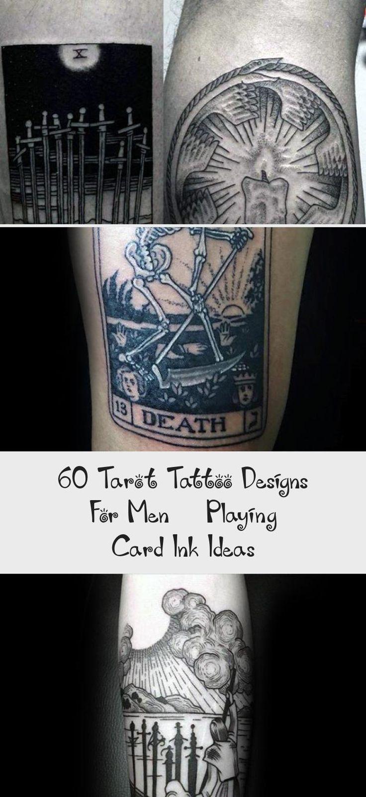 60 tarot tattoo designs for men playing card ink ideas