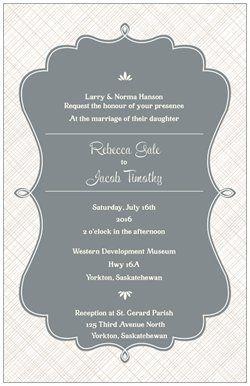 Vertical Flat Wedding Invitations Design From Vistaprint Visit Http://www. Vistaprint.