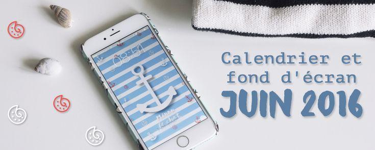 En manque d'air iodé ? Découvrez et téléchargez gratuitement le nouveau calendrier et fond d'écran de juin 2016 sur le blog Minou le chat !