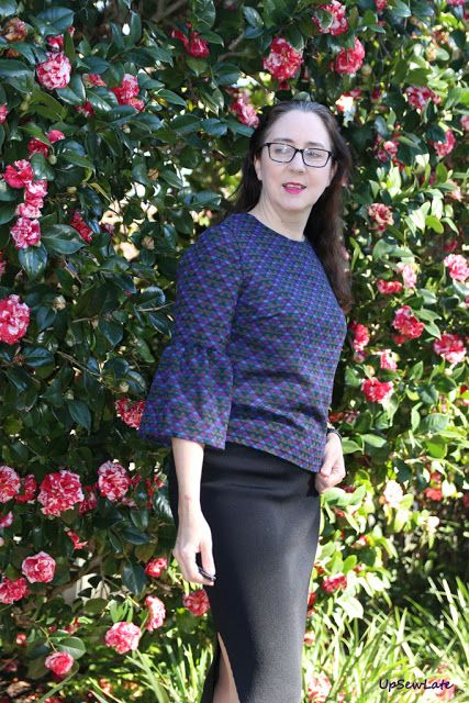 McCall's 7542 in a wool front/sleeves from The Fabric Store, black ponte from Tessuti Fabrics