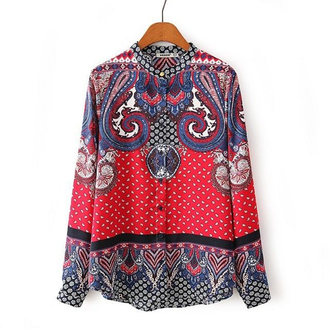 Paisley Love Blouse (Red)