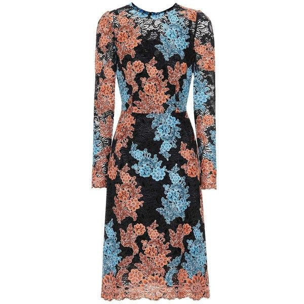 Dolce & Gabbana Embroidered Lace Dress (50.755.205 IDR) ❤ liked on Polyvore featuring dresses, multicoloured, embroidery lace dress, lacy dress, multi print dress, multicolor dresses and multicolored dress