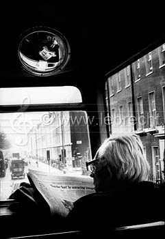 Michael Foot on a London bus