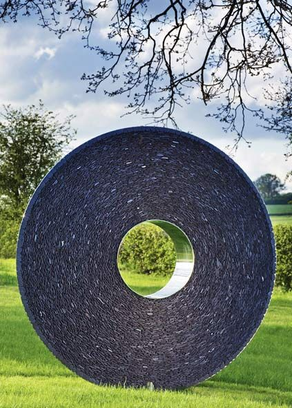 The Slate And Steel Torus Is A Variation On The Subtle Convex Curves And  Central Portal. Outdoor SculptureSculpture GardenOutdoor ...