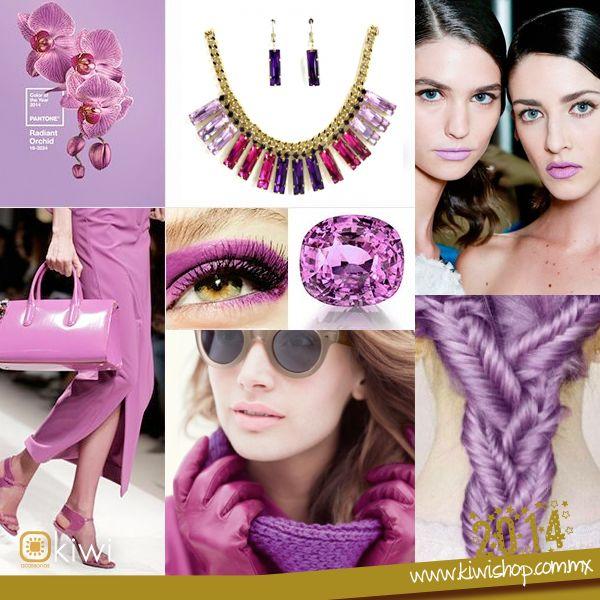 #1 / Y el color del 2014 es para... Orquídea Radiante. La industria de la moda ha elegido el color del año que viene, no olvides usar accesorios y prendas en este tono.