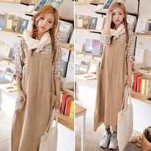 Kadınların eski tarzı kayış elbise, kolsuz düz renk artı boyutu gevşek cep elbise keten kumaş uzun elbise ucuz sıcak satış(China (Mainland))