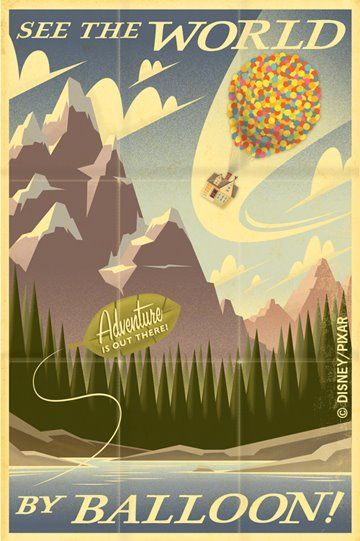 """Disney Pixar's """"UP: See the World By Balloon!"""" by Eric Tan. Regardless, I'd still like to see the world by balloon!"""