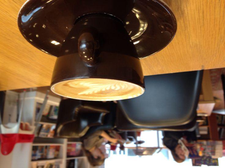 Coffee in #Eymundssom Library in #Reykjavik