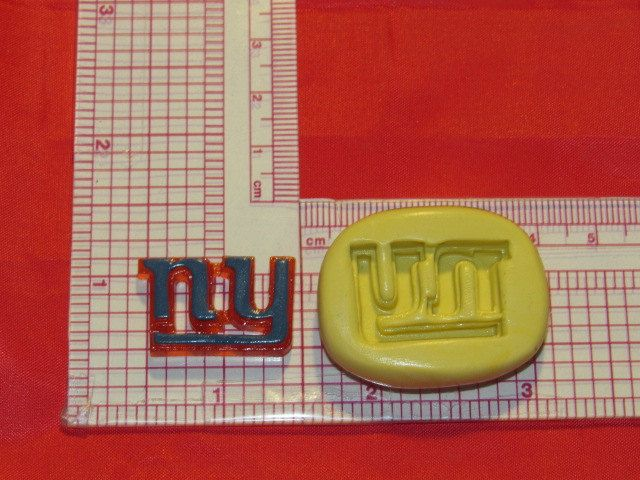 NFL Football New York Giants Logo Silicone Push Mold 818 Chocolate Candy wax by LobsterTailMolds on Etsy