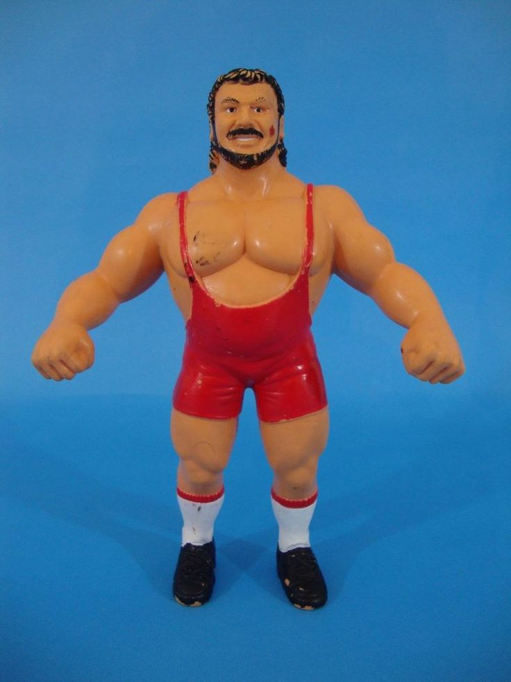 1987 LJN Titan WWF WWE Ted Arcidi Rubber Wrestling Action Figure  #LJN
