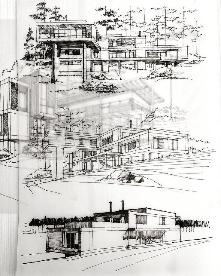"15.1 mil Me gusta, 42 comentarios - ArchiSketcher (@archisketcher) en Instagram: ""Perspective // form studies @roman.maklakov  #ArchiSketcher"""