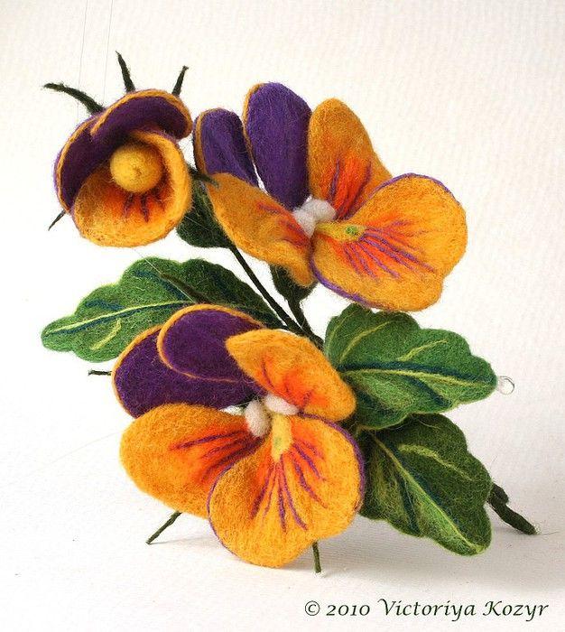 Валяные цветы купить оптом