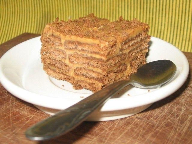 Torta chocolinas con dulce de leche