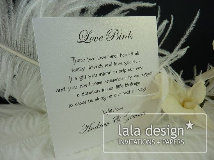 Black and silver gift suggestion card