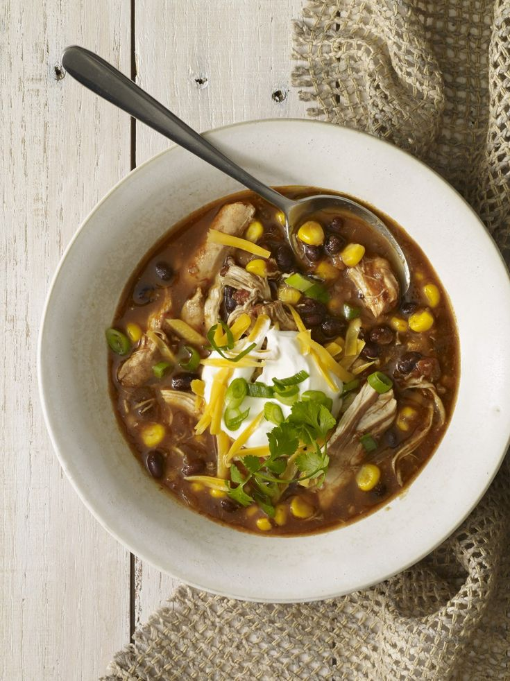 Slow Cooker Chicken Enchilada Soup ‹ Hello Healthy