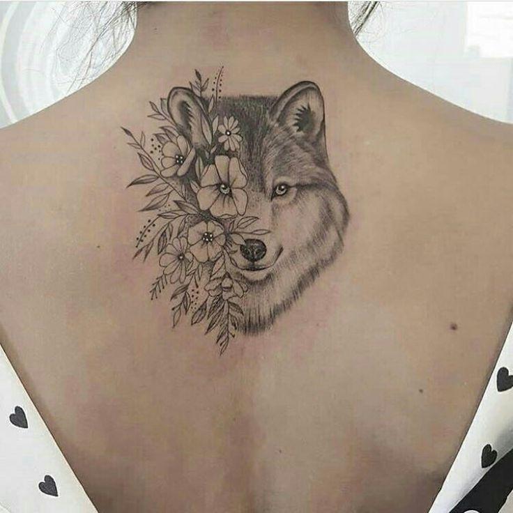 #Tattoo #Tatuagem #art #costas #lobo #wolf | Tatuagens femininas de lobo, Tatuagens, Tatuagem mulher