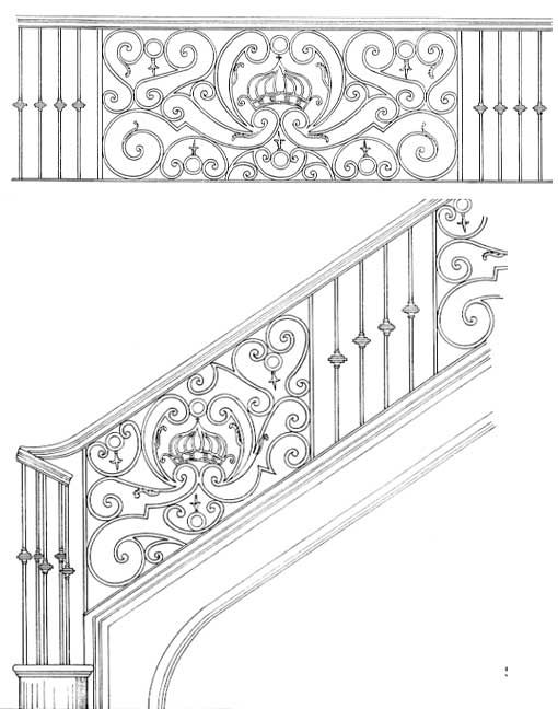 stair railing designs isr217