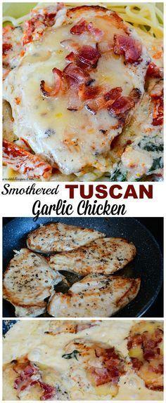 Smothered Tuscan Garlic Chicken!