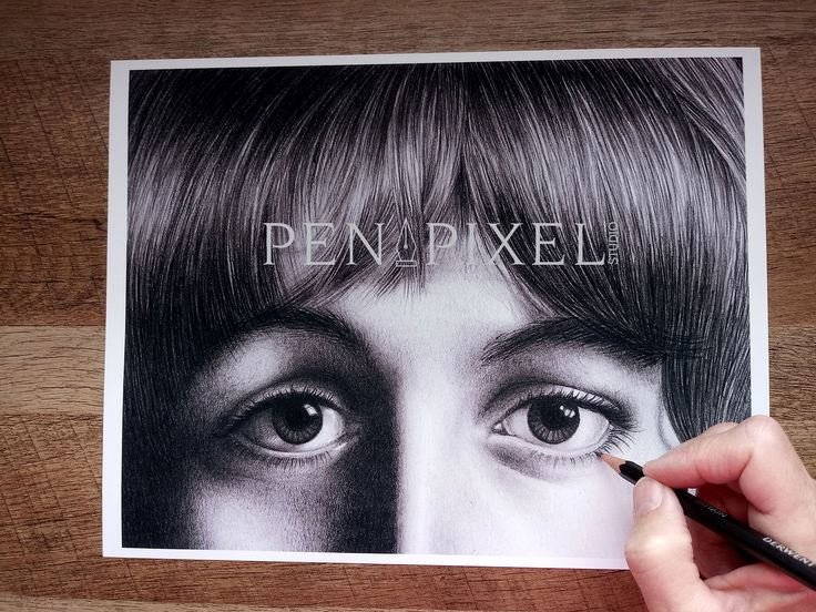Paul Mccartney Black White Pencil Drawing Www Etsy Com Shop