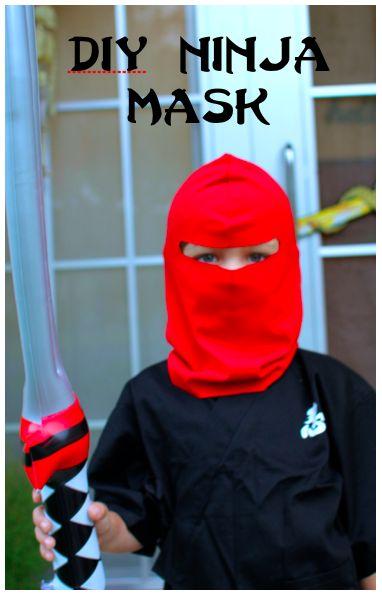 My Emiline. Living. Kids. Crafts.: Ninja Mask Tutorial