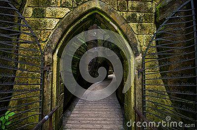 Adrspach Teplice Rock Town in Czech Republic. A characteristic stone gate…
