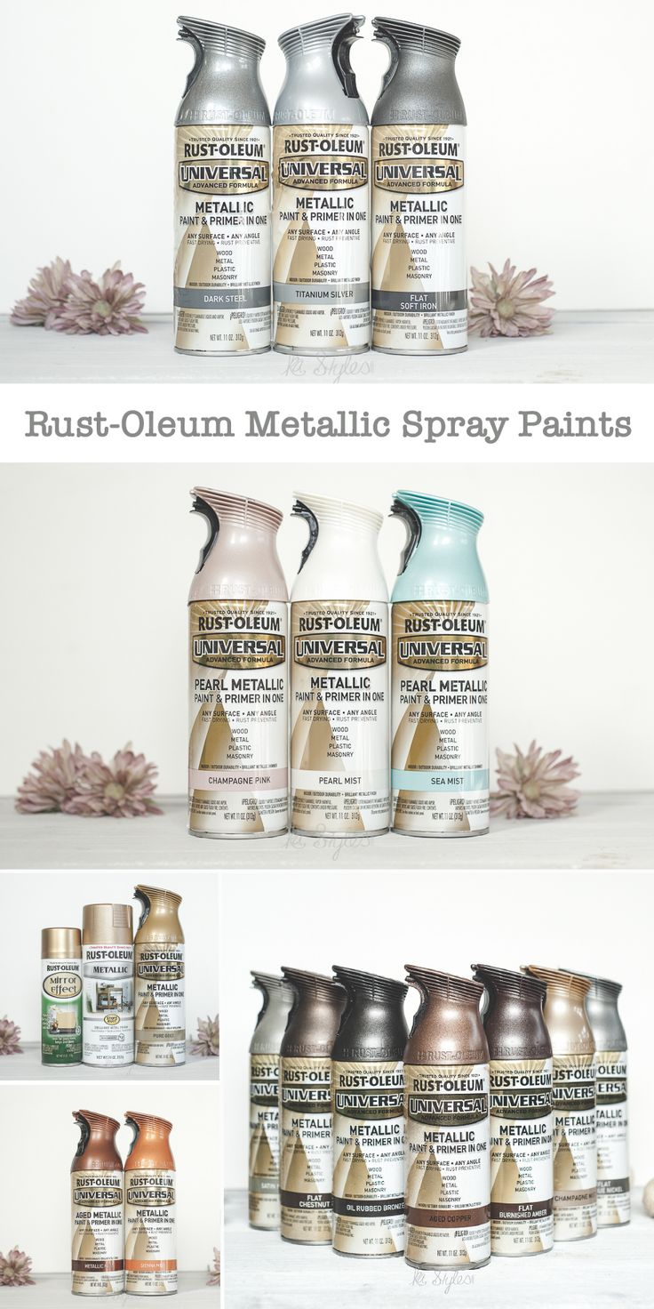 Rustoleum Spray Paint Colors For Metal Part - 26: Rust-Oleum Metallic Spray Paints
