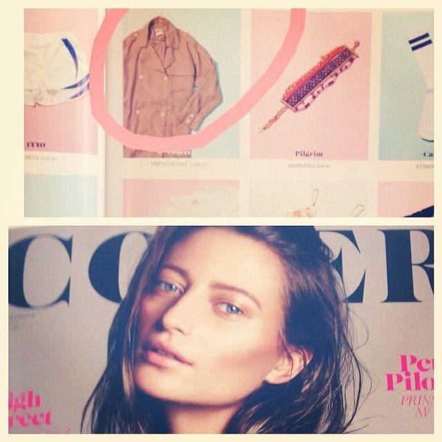 Hello Diva trench coat in the Danish Cover mag #hello #yay #objectfashion