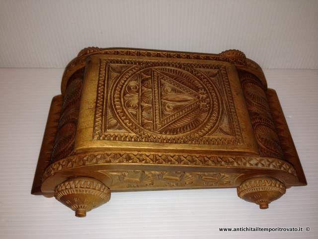 Sardegna antica - Tutto Sardegna Antica scatola sarda intagliata - Cofanetto portagioie sardo intagliato Immagine n°1