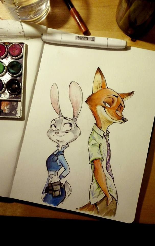 salamaliki:  Zootopia fanart. This movie screams obsession any way you look at it. And I haven't even seen it yet :P