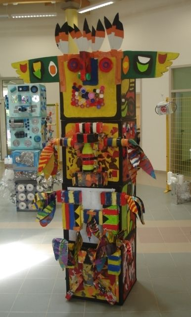ALAIN FERRANTI Artiste Plasticien - L'Art à l'école - Totem 1 | alain-ferranti.artblog.fr
