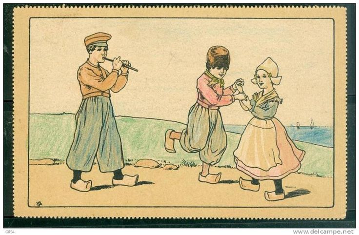 Enfants DANSANT  -  Illustration Non Signée , Cpa D'origine Russe ? - Ul41 - Illustrateurs & Photographes
