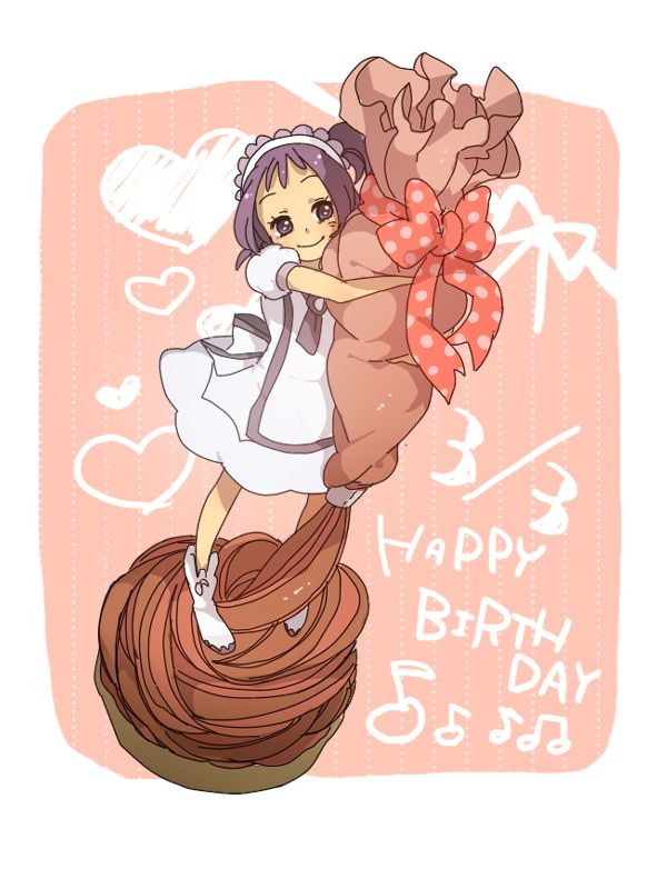 Tags: Anime, Birthday, Ojamajo DoReMi, Segawa Onpu, Tiny Person, Tomo, Text: Happy Birthday