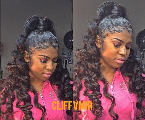 wavy ponytail natural hair
