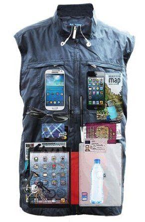 AyeGear Men's 23 Pocket Travel Vest with Dual iPad Pockets