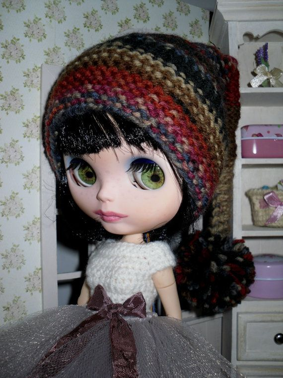 Autumn collection  helmet for Blythe Elf hat by LittleGiftCove