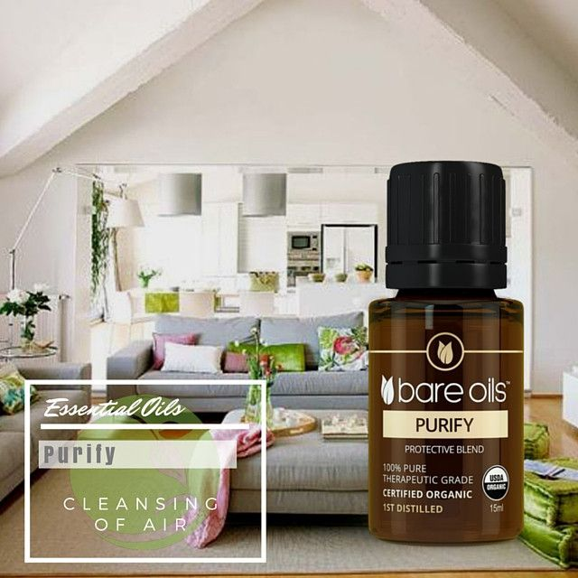 Organic Bare Oils Purify Protective Blend Purify and enhance the air in your home with a blend of the most powerful immune boosting odor eliminating oils refreshing ,inviting and Herbal. www.bareoils.com.au/terrimichellesmassage