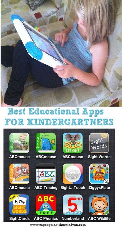 Best iphone ipad educational apps for kindergartners #MedinaLibrary #EducationalApps #RageAgainsttheMinivan