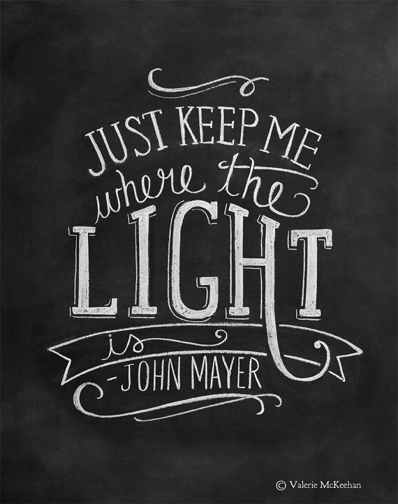 John Mayer Lyric Print - Hand Lettered Typography