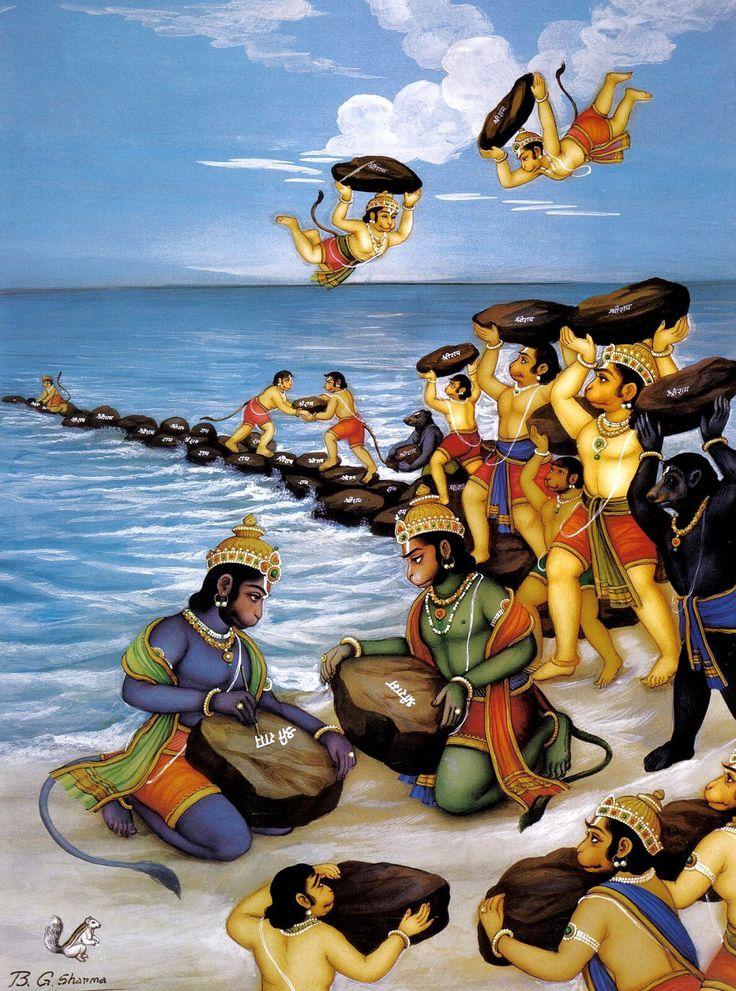 Hanuman and the monkey army