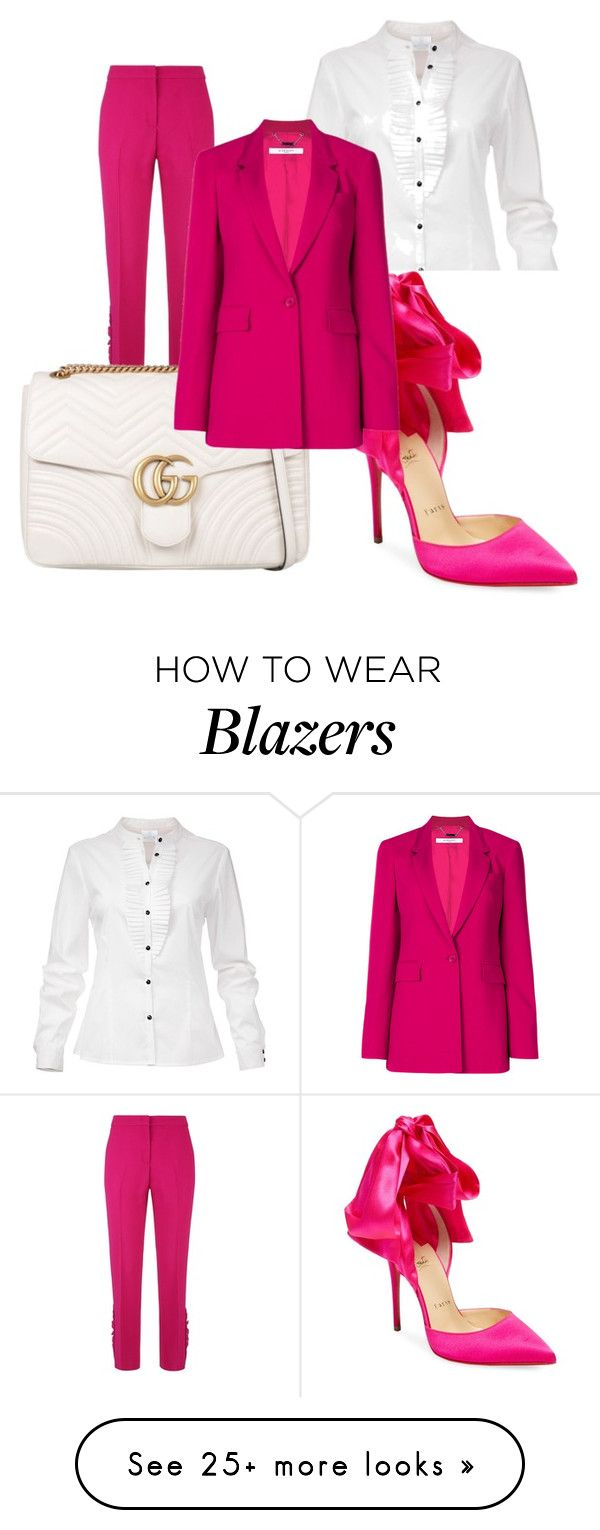 """""""just enough"""" by zoebluerose on Polyvore featuring N°21, Christian Louboutin, Gucci, Givenchy, contestentry and NYFWHotPink"""