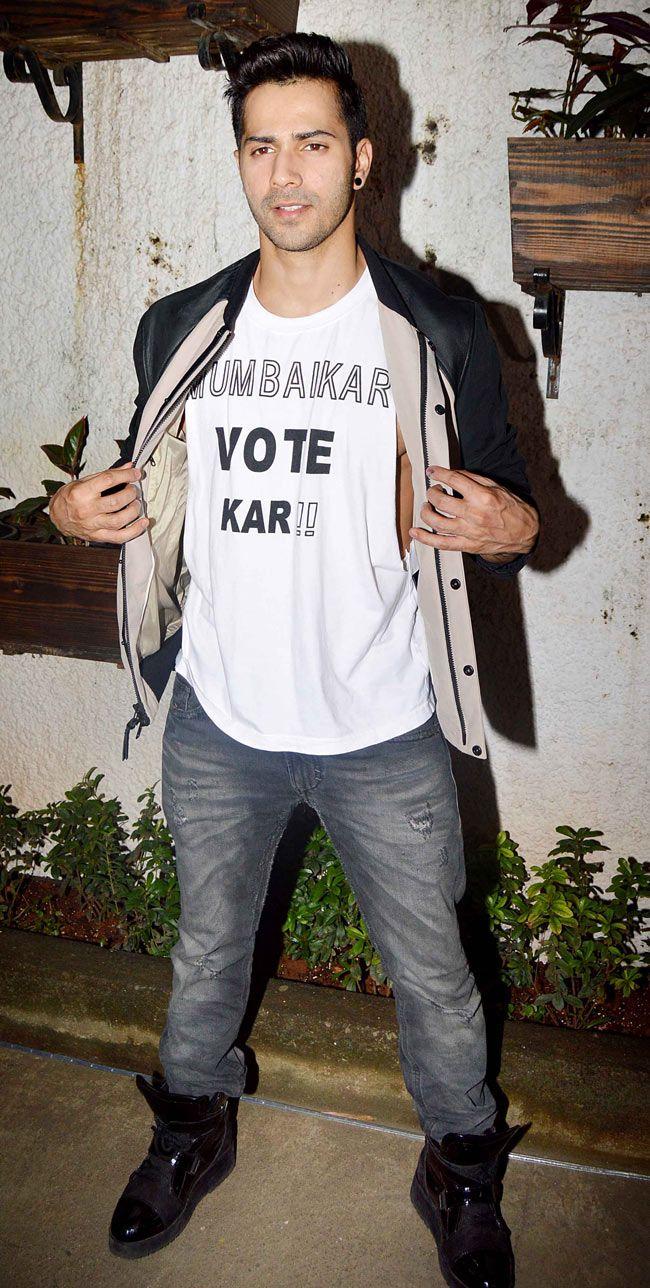 Varun Dhawan at the screening of 'Sonali Cable'.