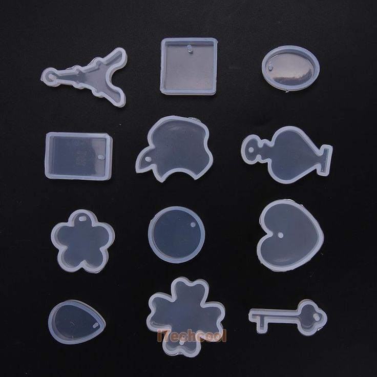 12Pcs Diy Clear Silicone Mold Making Jewelry Pendant Resin Casting Mould Craft