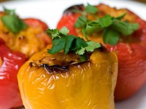 Lean Stuffed Bell Peppers Recipe - Appetizer and Snacks - Mrs. Wages