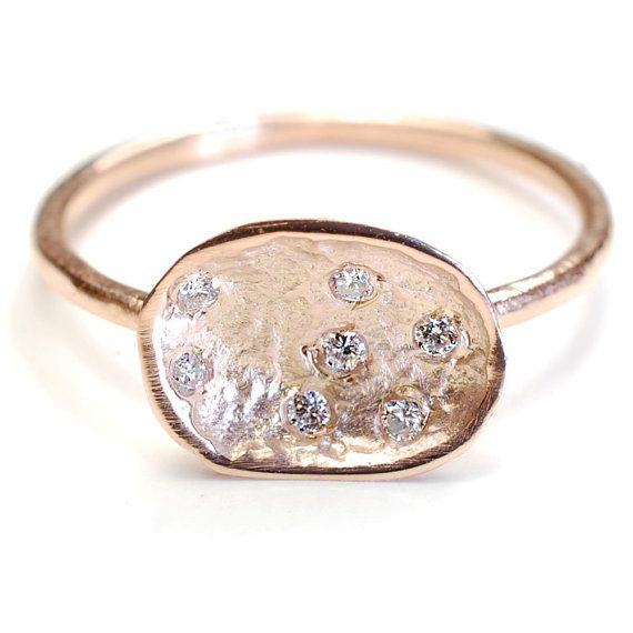Rose Gold Organic Ring | 12 Alternative Engagement Rings Under $1000 on The Etsy Blog.