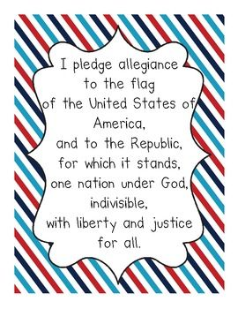 "FREE Pledge of Allegiance Posters for teaching your kids the pledge. In TX you have to teach ""citizenship"", so this would be handy!"