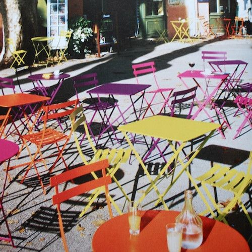 Fermob Bistro Table eclectic outdoor tables I want those cards