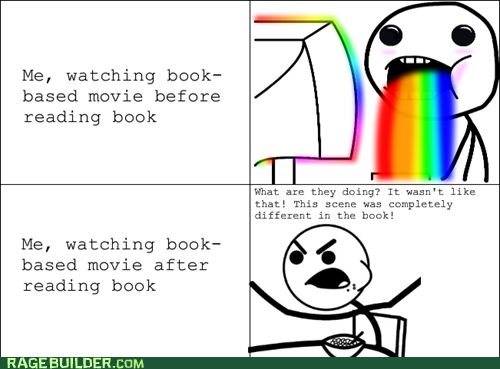 haha that was me with catching fire! The movie was amazing but they DID leave some stuff out!